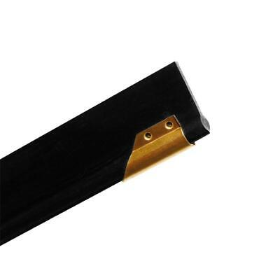 Size 8 Ettore 1123 Master Brass Clipped Squeegee Channel with Rubber Pack of 12