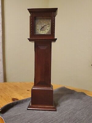 "Bombay Co. Mini Grandfather Clock ~ 1991 ~ Wood 13"" Tall ~ Japan Movement"
