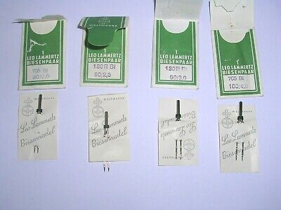Vintage Leo Lammertz Nadeln  Sewing Machine Twin Needle Set For Bernina Machines