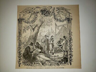 The Sanitary Commission Wounded Soliders 1884 Civil War Sketch Print