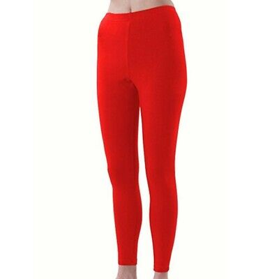 Pizzazz Girls Red Sport Cheer Dance Tights Ankle Length 6-14