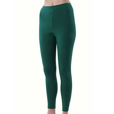 Pizzazz Girls Forest Green Sport Cheer Dance Tights Ankle Length 6-14