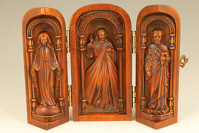 rare old boxwood hand carved Jesus Christ statue figure netsuke collectable