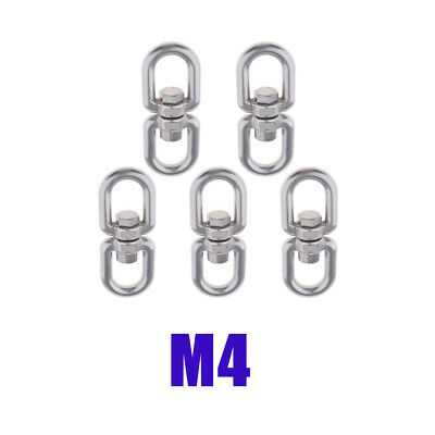 5-Piece Stainless Steel Swivel Shackle Ring Converter Hook for Marine -M4