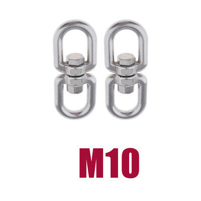 2-Piece Stainless Swivel Ring Converter Sturdy Durable for Swings -M10