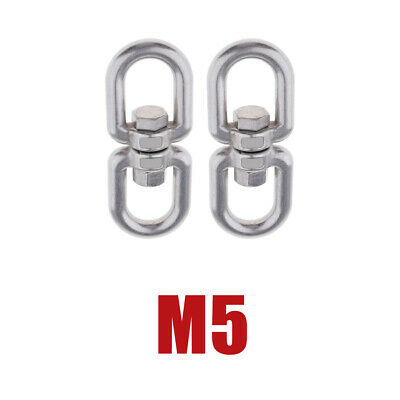 2-Piece Stainless Swivel Ring Converter Sturdy Durable for Swings -M5