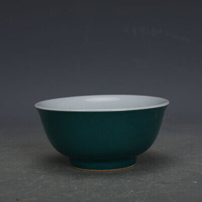 Chinese ancient antique hand make Green Glazed Rice Bowl 34