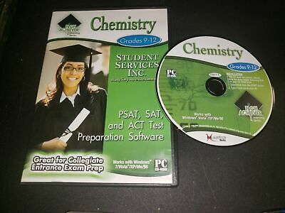 Chemistry Grades 9-12 PSAT, SAT, and ACT TEst Preparation Software