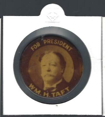 1908 Wm. H. Taft For President Picture Campaign Button