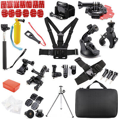 Camera Accessories Set Kit for GoPro Hero 2 3 3+ 4 5 Pole Head Chest Mount Strap