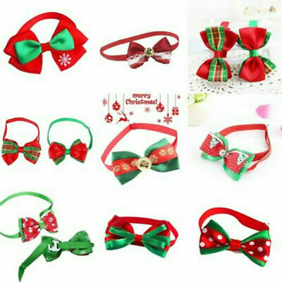 Christmas Dog Cat Pet Puppy Bow knot Necktie Collar Bow Tie Clothes Lovely New