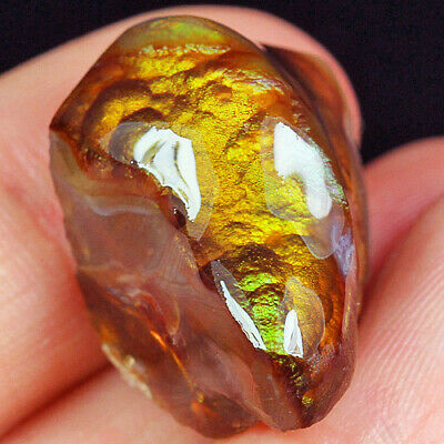 32.15Ct 100% Natural Mexican Multi-Colored Fire Agate Facet Rough YFM1818