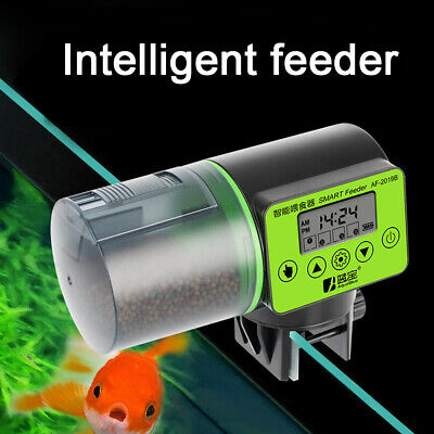 AU Automatic Pet Fish Food Feeder LCD Auto Timer Aquarium Tank Pond Feeding
