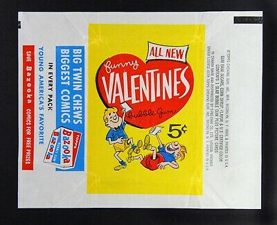 1960 Funny Valentines 5c wax wrapper (2nd series) NM/Mint