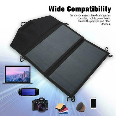 14W 5V Foldable Solar Panel Portable Outdoor Camping Battery USB Charger Ca P5Q9