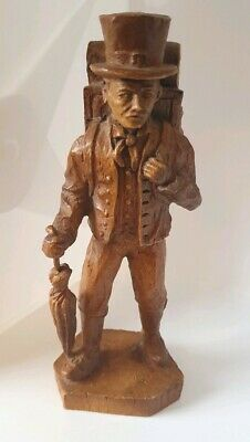THE CLOCK SELLER Black Forest Wooden Carving