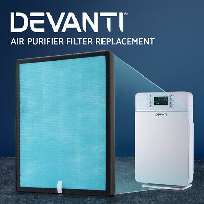 Devanti Air Purifier Purifiers HEPA Filter Carbon Ioniser Cleaner Freshener Home
