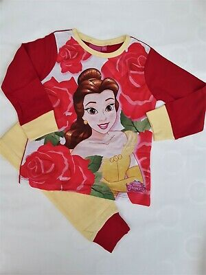 Girls Toddlers Pyjamas Disney Princess Belle PJ's Kids Nightwear Set 18m to 4-5y
