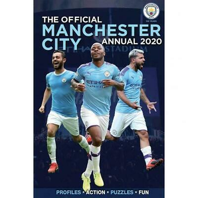 Manchester City Fc Man A4 Hard Back Book 100% Official Annual 2020
