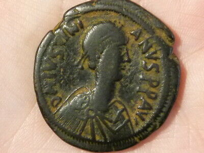 JUSTINIAN I Before 538 Ancient Byzantine Bronze Coin 33mm Nice Grade #Q304