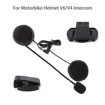 Headphone Earphone+Clip Mount For EJEAS Motorcycle Helmet V6 BT Intercom Headset