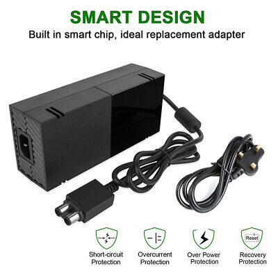 Mains Power Supply Charger Cable Adapter For Microsoft Xbox One New  Black UK