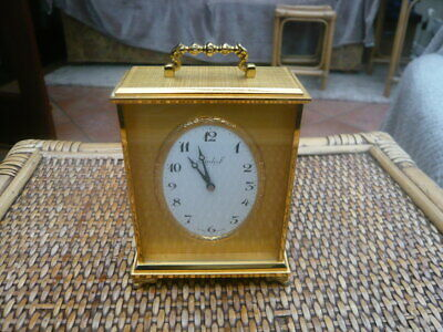 Suerb Quality Brass Swiss Made Imhof Lever Escapement 8 Day Carriage Clock