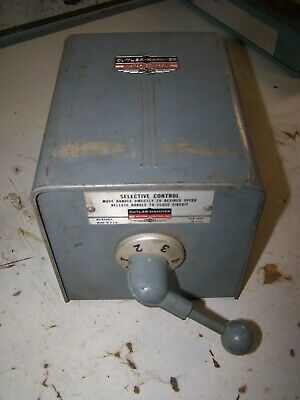 New Cutler Hammer Size 0 Rotary Drum Switch 4 Speed 3 Phase 9402H371A1