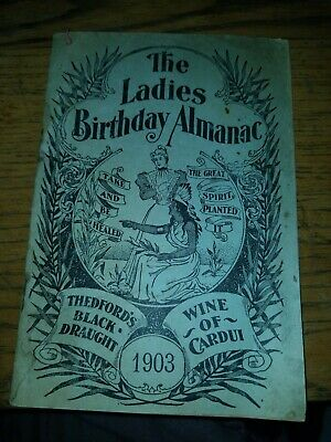 Antique 1903 Ladies Birthday Almanac Anderson Drug Co. Litchfield Mn
