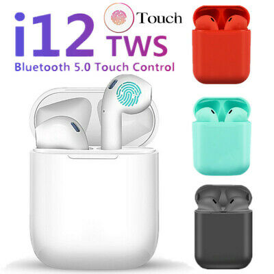 i12 Bluetooth 5.0 TWS Earbuds Wireless Headphones Earphones For iphone Android