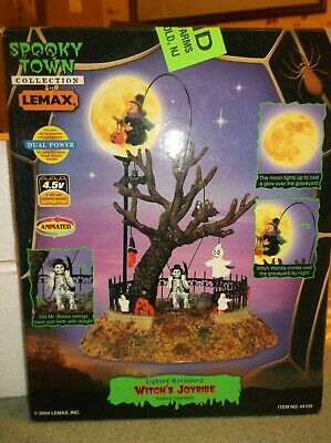 "Lemax  2004 Spooky Town ""Witch's Joyride"" Battery Operated Lighted Accessory"