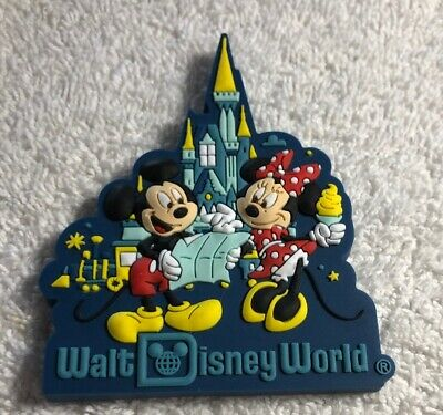 Disney Parks Walt Disney World Castle Mickey And Minnie Mouse Magnet