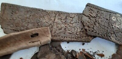 Ancient Egyptian Mixed Materiels, shoe leather parts and decorative ornaments