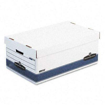 Bankers Box Legal Storage Boxes with Lift-Off Lid (Pack of White/Blue