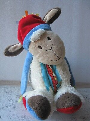 Retired Jellycat Woolly Sheep Book Soft Toy Plush Activity Sensory Rattle Music