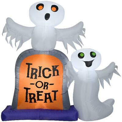 Halloween Decor 7ft Gemmy Industries Yard Inflatables Ghosts w Tombstone Outdoor