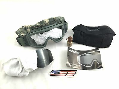ESS Land Ops Tactical Ballistic Goggles, Military Eyewear w Clear & Smoke Lenses