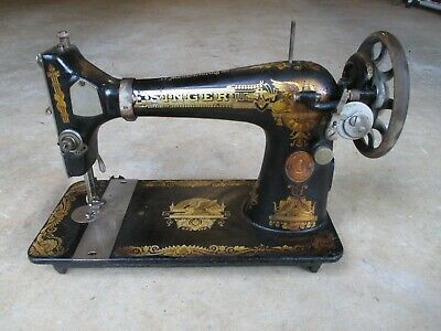 Antique 1895 Singer Sphinx Coffin Top Treadle? Sewing Machine HEAD ONLY