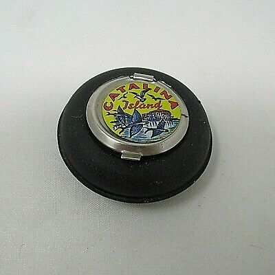 Souvenir Catalina Island Ash Tray With Flying Fish And Casino Metal And Tin