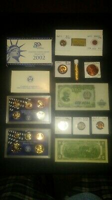 COINS LOT PROOF SET SACAGAWEA $2 40% Silver vintage 1 oz C round =no junk drawer