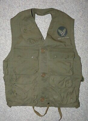 WW2 US Army Air Forces USAAF Type C-1 Emergency Sustenance Survival Vest