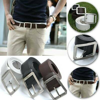 Men's Genuine Leather Trouser Belt Casual Pin Buckle Waist Strap Belts Waistband