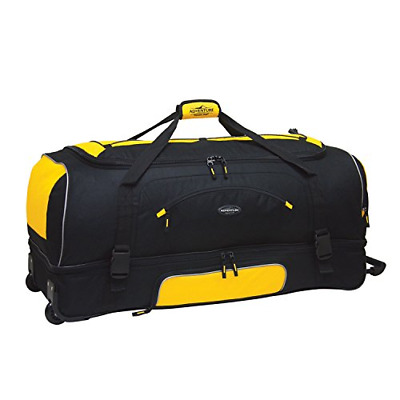 "Travelers Club 30"" ADVENTURE Travel Rolling Duffle Bag, Yellow"