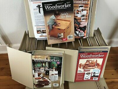 THE AUSTRALIAN WOODWORKER MAGAZINES ~ BULK LOT ~ ALBUMS X 16 ~ From 1990