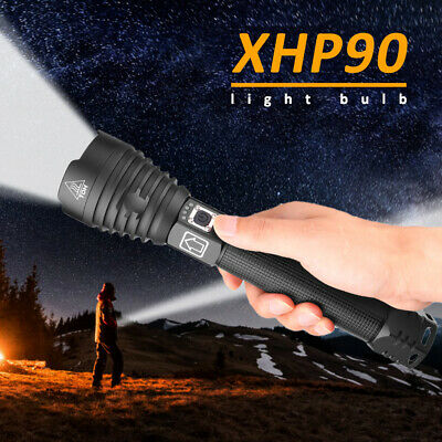 2019 XHP90 Zoom USB Powerful LED Flashlight Torch Light Lamp Upgraded