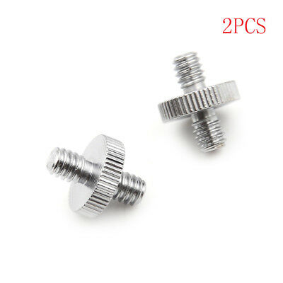 """2PCS 1/4"""" 1/4"""" Male to 1/4"""" Male Threaded Screw Adapter Double Head ScrewH_ns"""