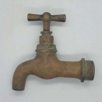Antique Solid Brass Faucet Old Vintage USSR Water Spigot Rare