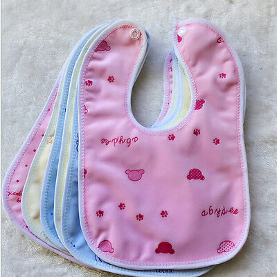 Newborn Toddler Infant Baby Boy Girl Bibs Waterproof Saliva Cartoon Towel TPI
