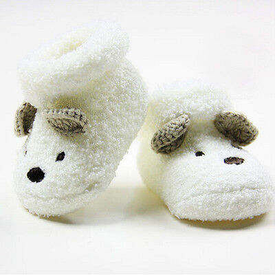 Cute Newborn Baby Boy Girls Socks Infant Cute Bear Crib Warm Shoes Socks TPI