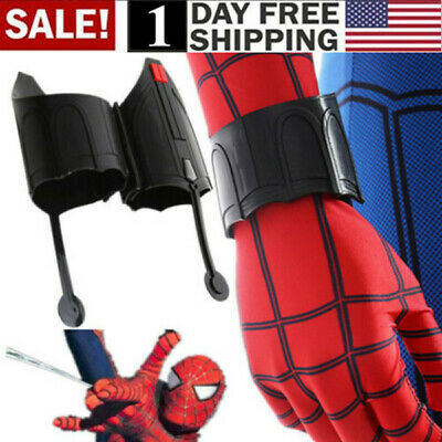 US! 2 Pcs Spider-Man Homecoming Web Shooter Peter Parker Spiderman Far From Home